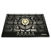 Fashion Gold 30 Inch Stainless Steel 5 Burner Built In Stove Natural Gas Cooktop