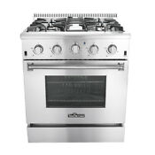 Professional 30 Kitchen Stainless Steel Gas Range Oven With 4 Burners Stove