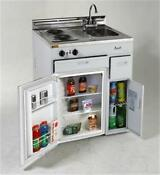 Mas 30 In Complete Compact Kitchen 2 2 Cf Refrigerator White With Ss Top