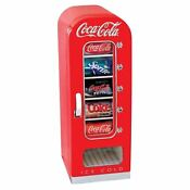 Coca Cola Mini Fridge Vending Soda Refrigerator Coke Cooler Retro 10 Can Machine