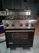 Viking 4gis3004bdbk 30 Professional Gas Range 4 Burner Stove Black
