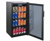 Beverage Refrigerator Wine Cooler Drinks Fridge Under Counter Bottle Can Storage