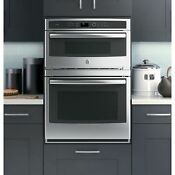 Ge Pt 7800 Dhbb Profile 30 Black Electric Combination Wall Oven Convection