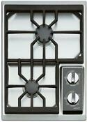 Wolf 15 2 True Simmers Dual Stacked Sealed Burners Gas Ss Cooktop Ct15gs