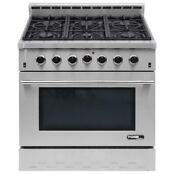 Nxr Entree 36 In 5 5 Cu Ft Professional Style Gas Range W Convection Oven