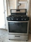 Whirlpool Stainless Steel Gas Range Silver Black Minimally Used