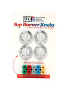 Lux Replacement Top Burner Knobs Universal Electric Ranges White Card Of 4