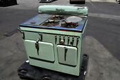 Vintage 1950 S Olive Green Chambers Gas Oven Stove Cooking 3 Burner Model C