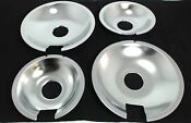 Jenn Air Range Cooktop Drip Pan Set Of 4 2 715877 2 715878