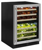 Marvel Ml24wdr 24 Wide 40 Bottle Built In Dual Zone Wine Cooler With Led