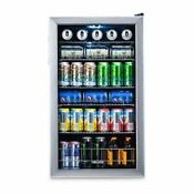 Stainless Steel Beverage Cooler Drinks Fridge Refrigerator Wine Counter Glass