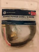 Genuine Ge Universal Range Power Cord 4 Prong 4 Wire 40 Amp 4 Wx09x10035