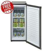 Upright Freezer 3 Cu Ft Compact Storage Apartment Garage Dorm Stainless Steel
