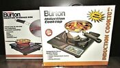 Burton New In Box Induction Cooktop 1800 Watt Bonus Interface Disk Portable
