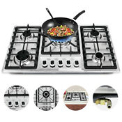 5 Burners Built In Stove Top Gas Cooktop Kitchen Easy To Clean Gas Cooking 33 8