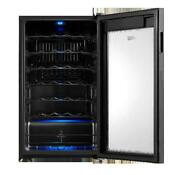 Wine Chiller Premium 34 Bottle Cooler Champagne Refrigerator Under Counter Bar