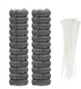 24 Pcs Washing Machine Lint Traps Snare Filter Screen Never Rust With Cable Ties