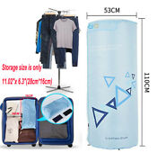 Portable Electric Clothes Dryer Drying Rack 22lb Capacity For Travel Hotel Shool