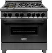 Z Line Rab 36 Black Stainless 36 Duel Fuel Gas Burner Electric Oven Range