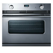 Summit Sgwo30ss Stainless Steel 30 W 3 Cu Ft Single Gas Oven With Convection