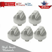 Wb03t10329wb03x32194 Stove Knobs Control Range Knobs Compatible With Ge 5pcs