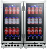 Edgestar Cbr902sgdual 30 W 160 Can Built In Side By Side Beverage Stainless