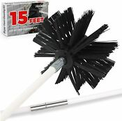 15 Feet Dryer Vent Cleaner Kit Dryer Vent Cleaning Brush Lint Remover Fireplace
