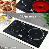 2 Burners Induction Cooktop Electric Hob Cook Top Stove Ceramic Cooktop 110v New
