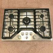 Ge Cafe 5 Burner Stainless Steel Gas Cooktop W Skillet Cgp95302m1s1 Tested