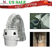 Home Indoor Dryer Vent Lint Trap Kit With 4 Inch By 5 Foot Transition Duct New