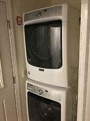 Maytag Med5500fw 27 White Front Load Electric Dryer Mhw5500fw1 Washer