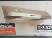 Presenza 30 Under Cabinet Range Hood In Stainless Steel With Led Lights