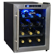 Newair Aw 121e 12 Bottle Thermoelectric Wine Cellar Refrigerator Cooler Black