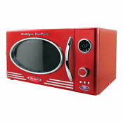 Nostalgia Retro Series 0 9 Cf Microwave Oven In Red