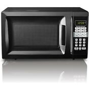 Microwave Oven 0 7 Cu Ft Stainless Steel Digital 10 Power Levels 6 Quick Setting