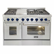 Kucht Professional 48 Free Standing Dual Fuel Range With Griddle