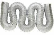 Duct Foil 4 Inch 50 Foot Aluminum Polyester Dryer Vent Hose Pipe