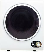 Electric Dryer Compact 1 5 Cubic Feet Round Door Left Swing Air Fluff Timed Dry