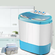 Portable Washing Machine Mini Laundry Washer And Dryer Compact Twin Tub Blue Us