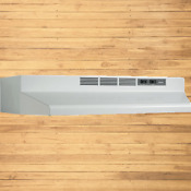 Broan F404201 Two Speed Four Way Convertible Range Hood 42 Inch White