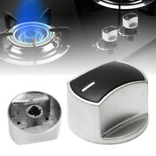 6 X Metal Universal Gas Stove Knobs Cooker Oven Hob Kitchen Switch Control New