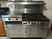 Wolf Range Stove 60 6 Burners 2 Ovens Griddle Broiler Located Santa Ana Ca