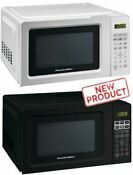 0 7 Cu Ft Microwave Oven Kitchen Countertop 700w Led Digital Display Black White
