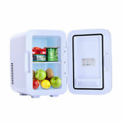 Mini Fridge With Freezer Refrigerator Dorm Room Party Cooler Small Office 6l Us