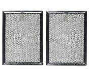 2 Compatible For Frigidaire 5304440336 Microwave Oven Aluminum Grease Filters