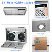 30 Modern Under Cabinet Stainless Steel Kitchen Range Hood Fan Cook Stove Led