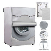 Silver Washing Machine Cover Waterproof Washer Cover For Front Load Washer Dryer