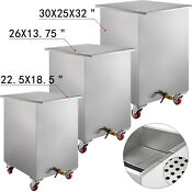 Stainless Steel Restaurant Soak Clean Grease Hood Filter Tank Cart With Lid