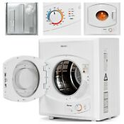 Compact Electric Tumble Dryer W 8 8 Lbs Cloth Capacity Stainless Steel 2 65 Cu