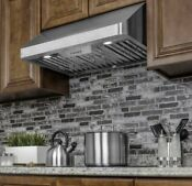 36 In Ducted Under Cabinet Range Hood With Led Lights In Stainless Steel